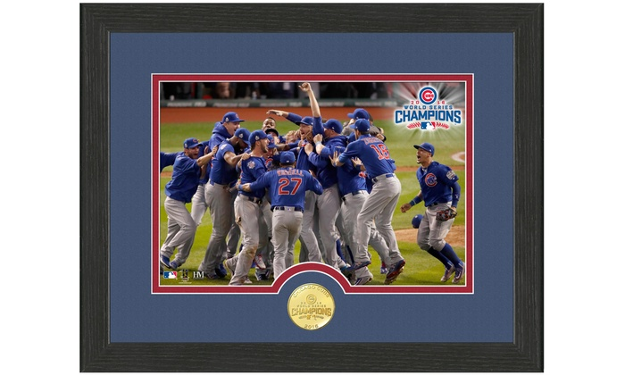 2016 World Series Champions Chicago Cubs Celebration Coin and Photo