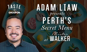 Mister Walker: Adam Liaw's Exclusive Secret Menu - Mister Walker: 4 Courses + Wine for Two ($99) or Four ($195) - Up to $260 Value