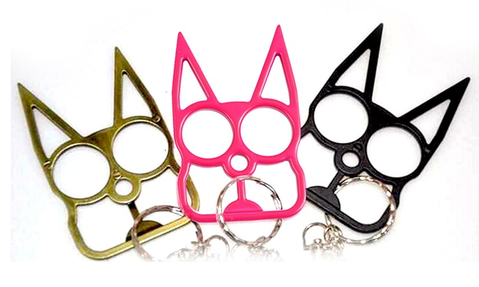 Cat Shaped Self Defense Keychain Groupon