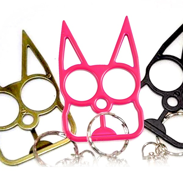 Up To 59 Off On Cat Shaped Self Defense Keychain Groupon Goods