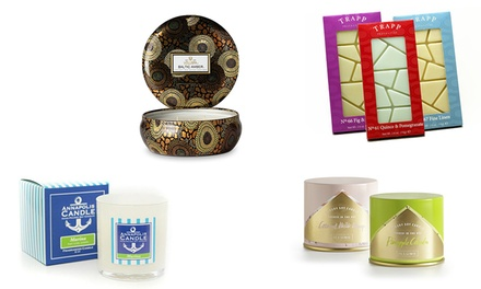 Candles, Candle Tins and Wax Melts at Candles Off Main (Up to 46% Off). Four Options Available.