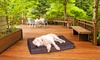 2-in-1 Indoor and Outdoor Pet Bed with Removable Sherpa Top: 2-in-1 Indoor and Outdoor Pet Bed with Removable Sherpa Top