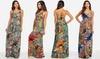 Spaghetti Strap Printed Maxi Dresses: Spaghetti Strap Printed Maxi Dresses