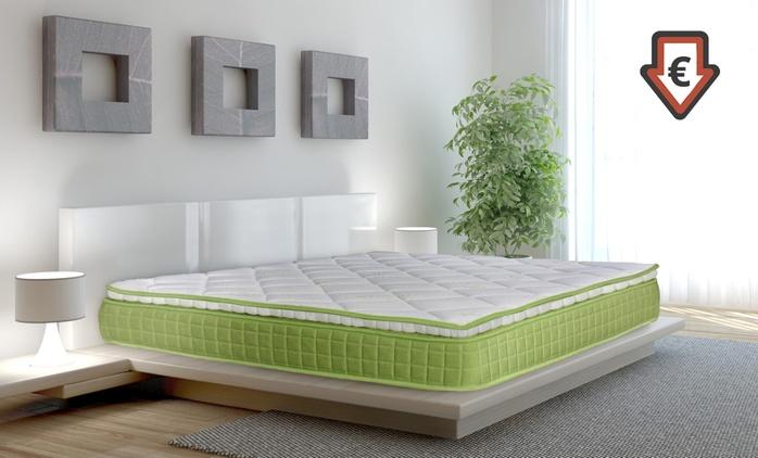 Matelas mémoire de forme Palm Beach avec surmatelas intégré,fabrication française,avec ou sans cadre de lit, dès 59,90€