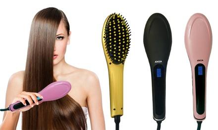 Cepillo térmico con placas de cerámica para alisar cabello Jocca