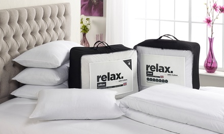 John Cotton Relax Duvet and FourPillow Set in 10.5/13.5/15 Tog
