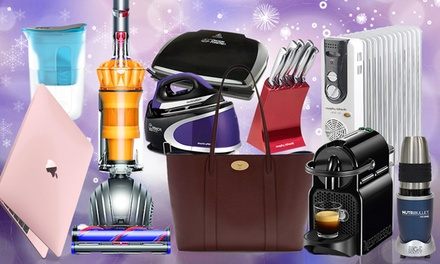 Home Appliance Mystery Deal with a Chance to Receive Mulberry Handbag, Dyson Vacuum or Apple Macbook