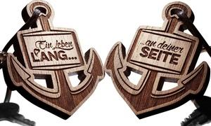 SchenkYOU: Wertgutschein über 10 € oder 20 € anrechenbar auf alle personalisierten Anhänger, Halsketten und Armbänder von SchenkYOU