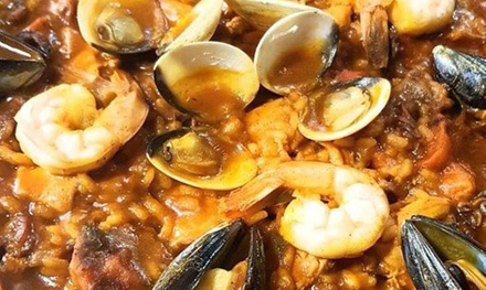 Paella of Choice and Jug of Sangria for Two or Four at Aguadulce