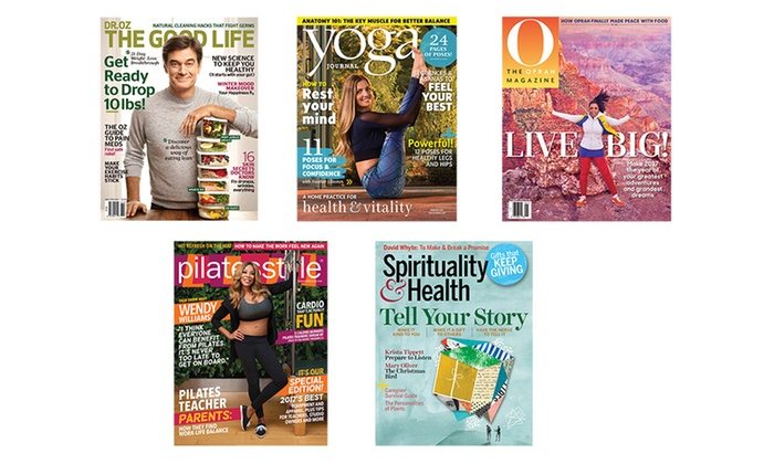 Dr. Oz, Oprah, Yoga Journal, Spirituality & Health, or Pilates Style Magazine Subscription (Up to 58% Off)