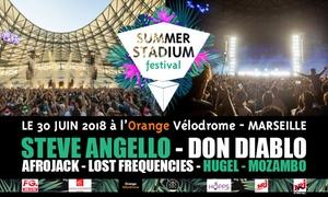 """Orange Velodrome: Entrée pour le Summer Stadium Festival, en """"Dancefloor"""", """"Premium"""" ou """"VIP"""" dès 23€ le 30 juin 2018 à l'Orange Vélodrome"""