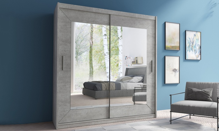 Wardrobe Alfa with Mirror in Choice of Size