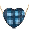 0.10 CTTW Genuine Turquoise Heart Necklace in 18K Gold Plating
