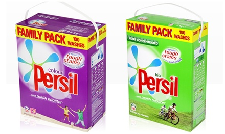 100 or 200 Washes of Persil Powder Bio or Colour