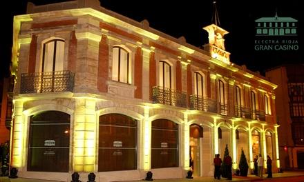 Entrada al casino con 2 combinados, 2 tapas y 1 ticket de juego para 2 personas por 10,95 € en Electra Rioja Gran Casino