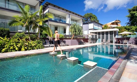 Noosa Heads,QLD: Three Nights for Four or Six with Late Check-Out and Boogie Board Hire at The Rise Noosa Resort