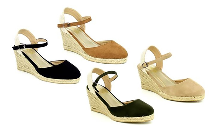 4961a978f94 Mata Women's Espadrille Open Peep Toe Wedge Sandals | Groupon