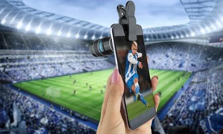 1 o 2 lentes universales de teléfono inteligente ajustable con un clip