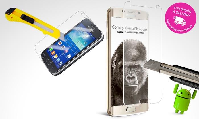 Pick Up - Múltiples sucursales: Desde $59 por lámina protectora Gorilla Glass para celulares Samsung a elección con delivery o retiro en sucursal
