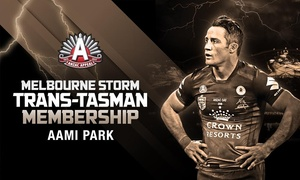 Melbourne Storm: Melbourne Storm v Warriors: ANZAC Day Tickets + Membership Package from $15, 25 April at AAMI Park (Up to $140 Value)