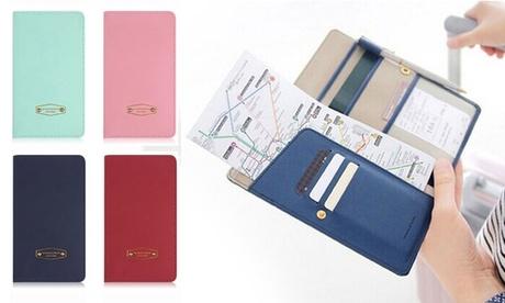 1, 2 o 3 organizadores de documentos de viaje disponibles en varios colores