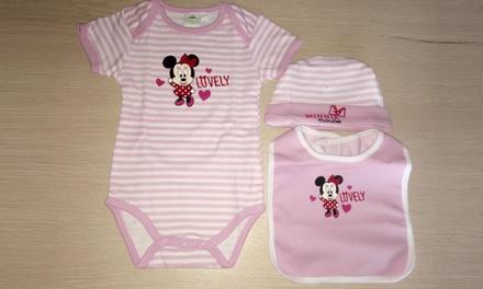 Disnesy Mickey y Minnie Mouse conjunto de ropa para bebés de 3 o 4 piezas disponibles en diferentes tallas