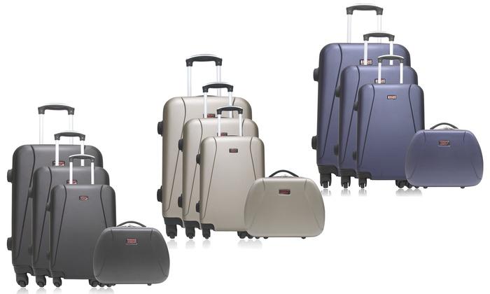697fba55f Hasta 86% dto. Set de 3 maletas y neceser Hero | Groupon