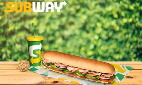 Menú Subway para 2 o 4 con bocadillo, bebida y complemento desde 8,95 € en Subway Bravo Murillo