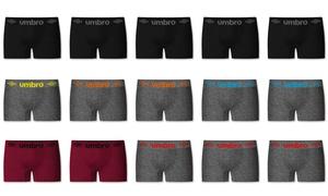 Pack 5 à 15 boxers Umbro