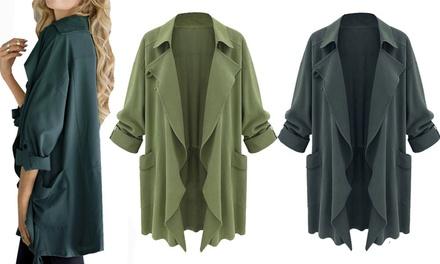 Dames extra groot waterval jasje in 2 kleuren voor € 19.99 korting