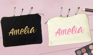 Personalised Gift Market: One or Two Personalised Cosmetic Make-Up Bags from Personalised Gift Market (Up to 55% Off)