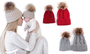 Bonnets Duo maman enfant
