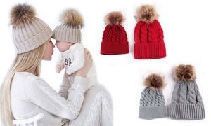 (Mode)  Bonnets Duo maman enfant -73% réduction