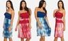 Juniors' Strapless Tie-Dye Sundress: Juniors' Strapless Tie-Dye Sundress