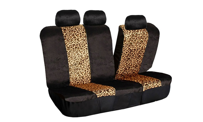 2 Tone Leopard Print Seat Covers Groupon Goods