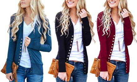 Womens Buttoned Cardigan