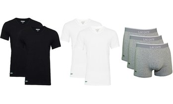 Lacoste 2 T-Shirts oder 3 Trunks