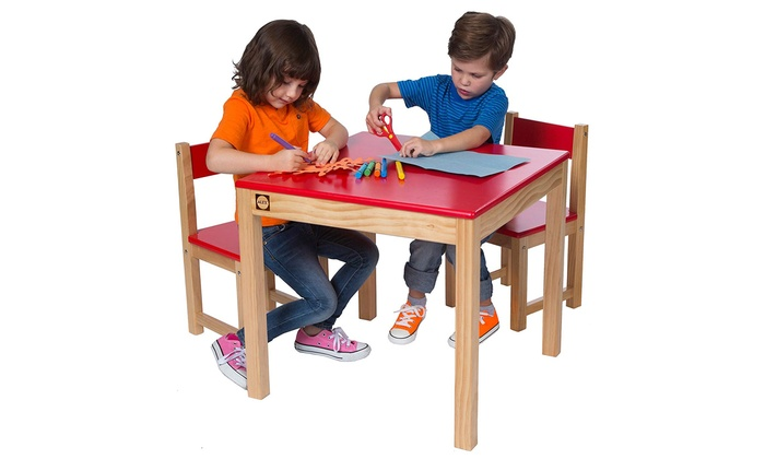Alex Toys Red Wooden Table and Chairs Set for £49.99
