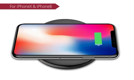 Ultrathin Fast Wireless Qi Charging Pad for iPhone X/8/8 Plus and Samsung S8/Note 8: One ($25) or Two ($45)