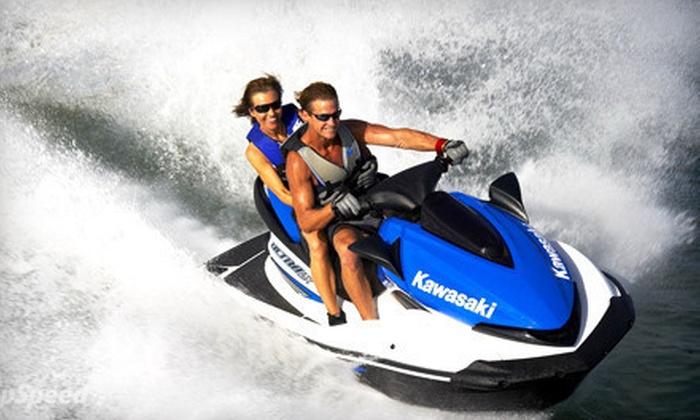 Vancouver Water Adventures - Granville Island : Tandem Jet-Ski Rental for Two or a Wild Tandem Jet-Ski Tour for Two from Vancouver Water Adventures (Half Off)