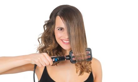Heated Hair-Straightening Brush