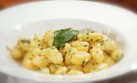 Italian Appetizer and Entrees for Two or Four at Mezza Luna Pizzeria & Restaurant (Up to 53% Off)