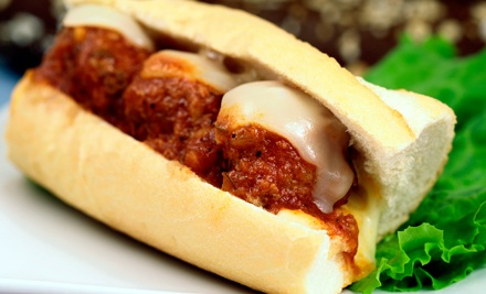 $15 for Five Groupons, Each Good for $6 Worth of Sandwiches and Café Food at The Rat Pack Cafe ($30 Value)