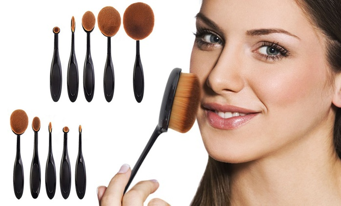 $29 for a 10-Piece Oval Makeup Brush Set