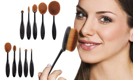 10Piece Oval MakeUp Brush Sets: One $26.95 or Two $39.95