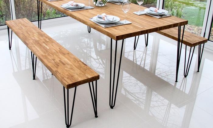 Pied De Table Epingle.Lot De 4 Pieds De Table Groupon Shopping