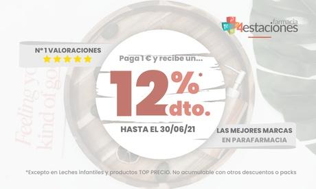 Paga 1€ y obtén un 12% de descuento en Farmacia 4 Estaciones a excepción dealimentación infantil y producto TOP PRECIO