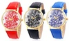 Women's Floral Analogue Watch