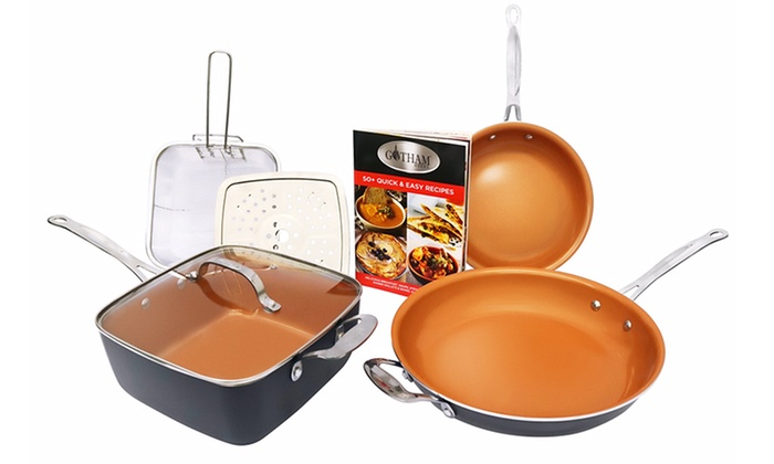 Up To 57 Off On Gotham Steel Cookware Set 7 Pc