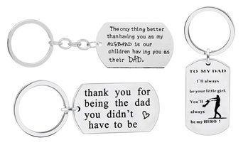 Novelta Stainless Steel Keychain with Father's Day Message
